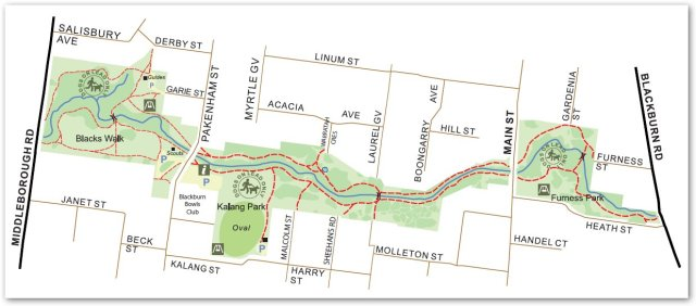 Blackburn Creeklands Overview Map