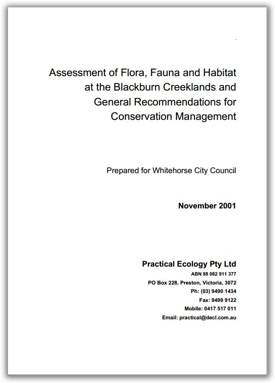 practical ecology report cover
