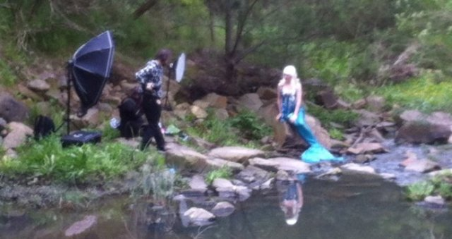 mermaid in the creek