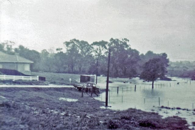 Blackburn Creeklands in Flood 1964 (M Crabb)