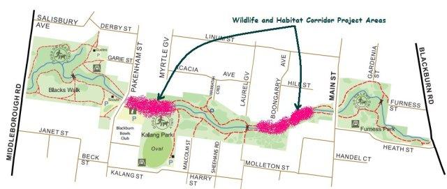 corridor project areas