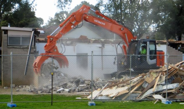 pavilion coming down