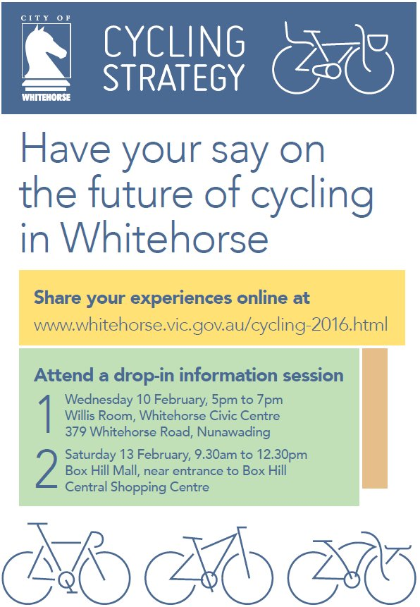 whitehorse cycling strategy poster