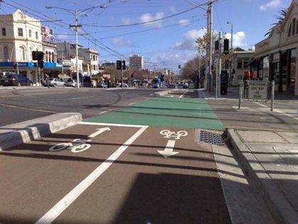 2-Way Copenhagen Bike Lane